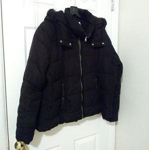 Zip-up Puffer Coat